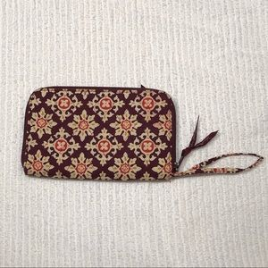 Vera Bradley Burgundy Patterned Wallet